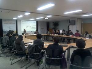 韓国YWCAでの懇談会