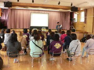 伊達市内幼稚園保護者会での説明の様子